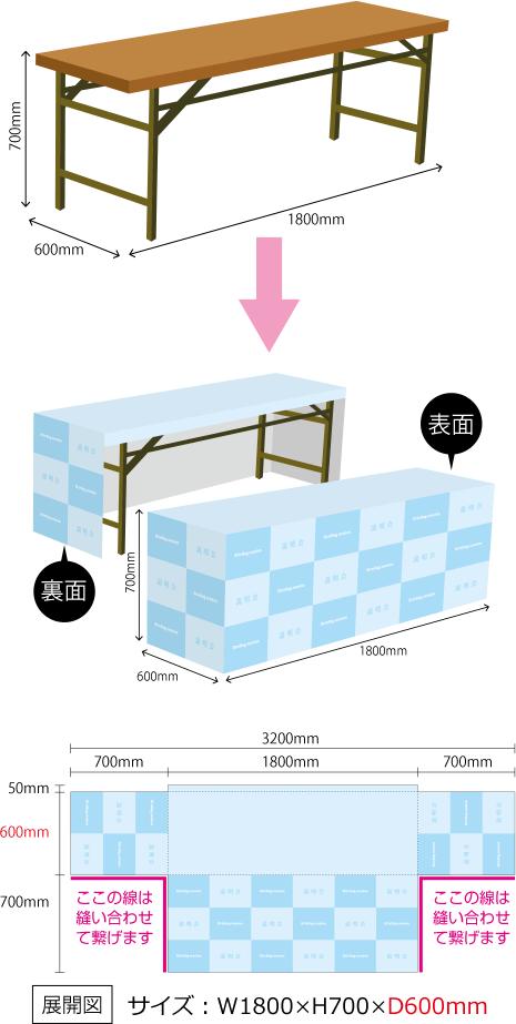 テーブルカバー(奥行600mm)